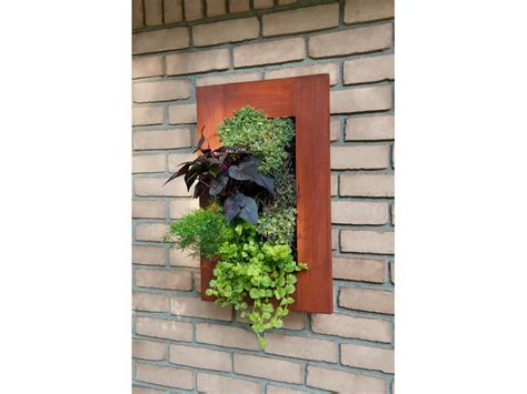 patio wall planters grovert living wall planter paintable wood frame