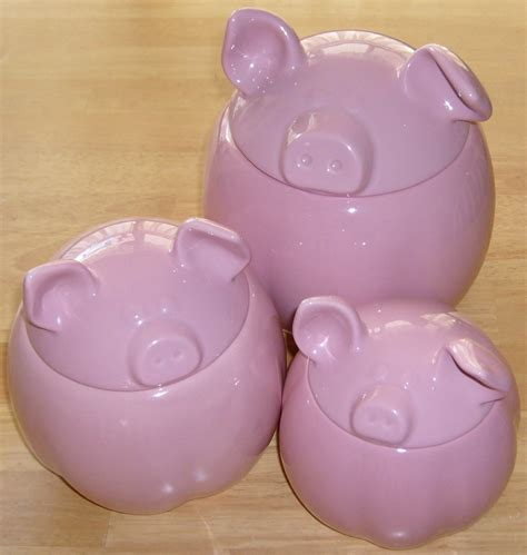 Pig Family Canisters Set pig kitchen canisters 28 images 3pc piglets canister
