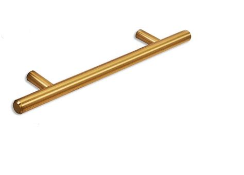 brushed brass cabinet pulls 5 quot european t bar brushed brass cabinet pull kitchen