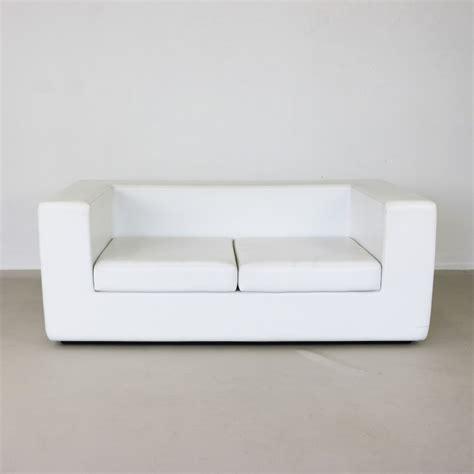 sofa away throw away white two seater sofa by willie landels 61345