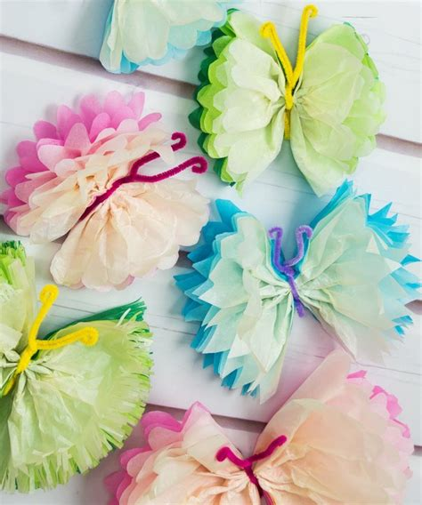 What To Make With Tissue Paper - 16 diys tutorials how to make tissue paper butterflies