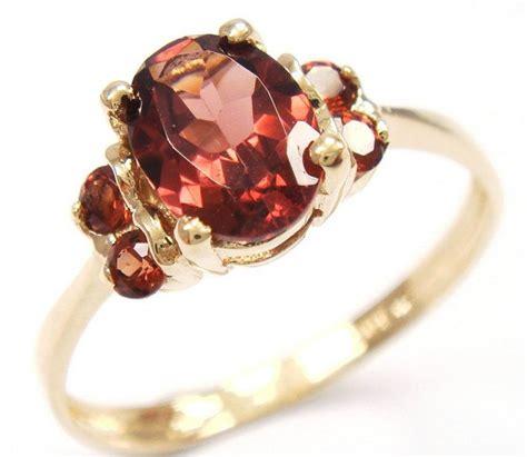 Sparsatine Garnet 5 84 Ct gouden ring gezet met 5 garnet totaal 1 18 ct catawiki
