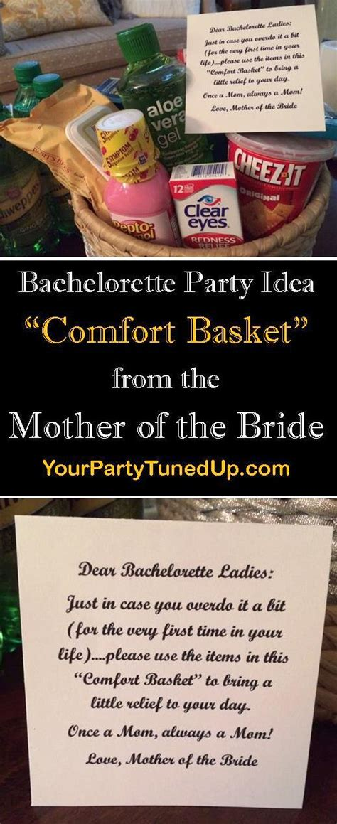 comfort basket ideas bachelorette party idea comfort basket from mother of the