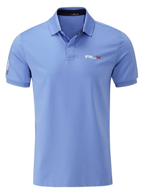 Kaos Supply Co 1 ralph golf solid polo shirt tour fit in blue for