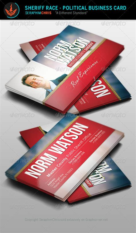 political caign business card templates sheriff race political business card template by