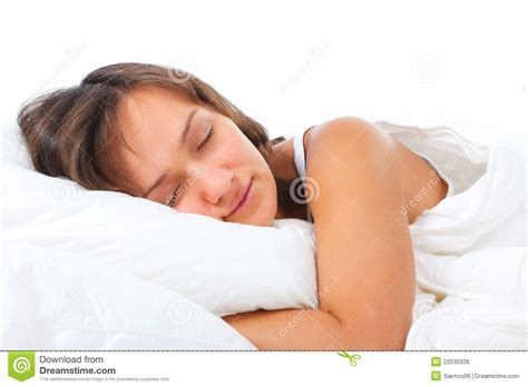 woman sleeping in bed young woman sleeping in bed royalty free stock image