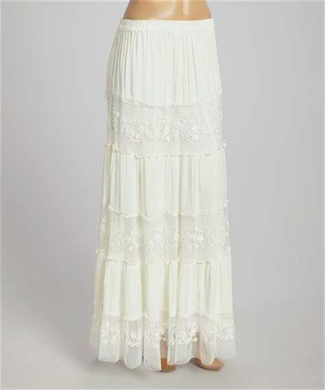 anuna white lace maxi skirt