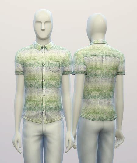 nailhead pattern shirt rusty nail cuffed shirt gradation pattern sims 4 downloads