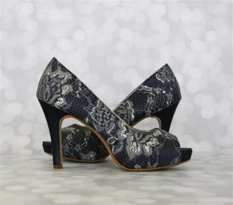 Navy Wedding Shoes by Navy Blue Wedding Shoes Navy Peep Toe Platform Wedding