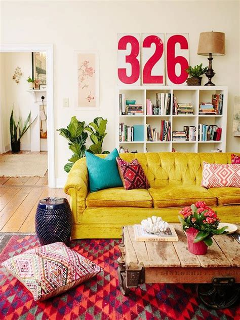 Boho Style Home Decor | colorful living room home decor for cheerful souls