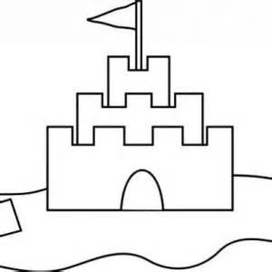 Awesome Sand Castle Coloring Page  sketch template