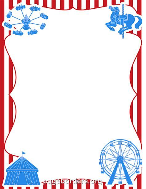 carnival border clip art page border  vector graphics