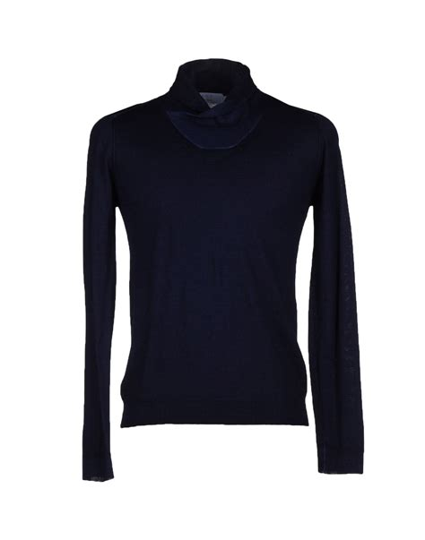 Dijamin Black Kaos Blue kaos turtleneck in black for blue save 11 lyst