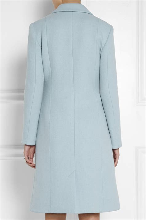 light blue wool coat light blue wool coat jacketin