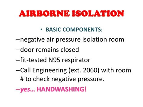 Negative Pressure Room Airborne Precautions by Of Nursing In Infection