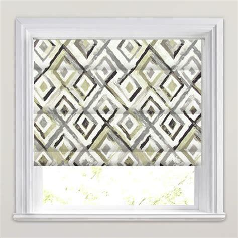 black patterned roman blind black grey stone white diamond patterned roman blinds