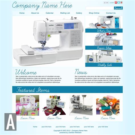 Quilting Sewing Website Templates Quilting Website Templates