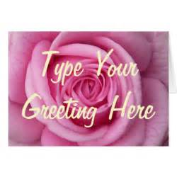 cards pink flowers personalized greeting card zazzle