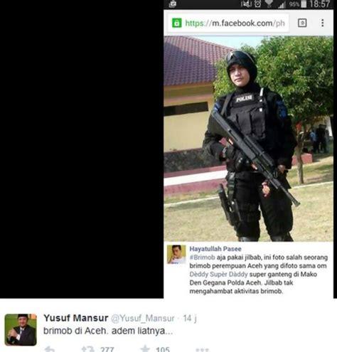 Baju Hitam Brimob kisah dan foto foto lengkap bripda anggota gegana cantik di aceh si momot