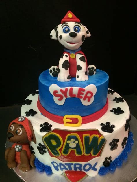 Cake Topper Paw Patrol New paw patrol cake with custom edible toppers yelp