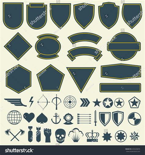 vector elements military army patches badges stock vector