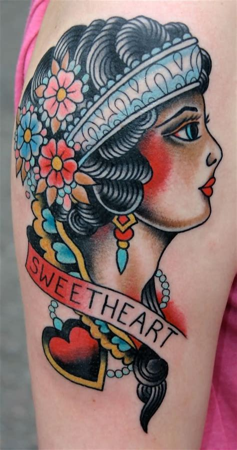 tattoo old school gitana 100 incredible american tattoos