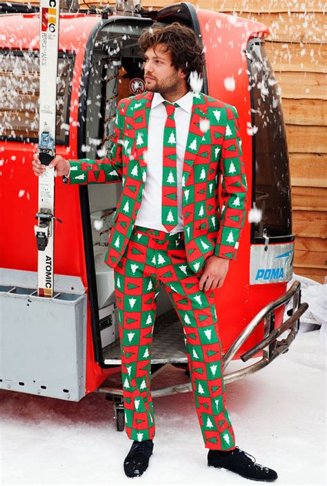 xmas pattern suit ugly christmas sweaters turned into stylish suits bored