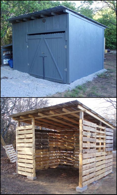 How To Build Skids For A Shed by How To Build A Shed From Repurposed Pallets A Shed Is