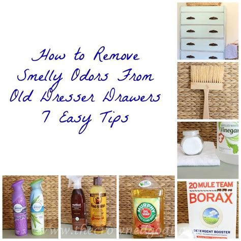 how to remove smelly odors from dresser drawers