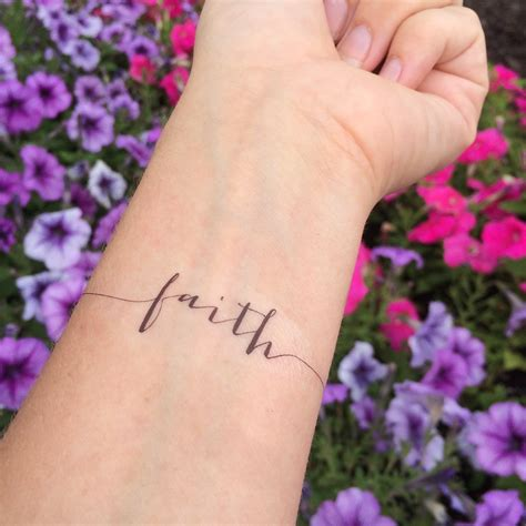 faith and cross tattoo faith arm temporary