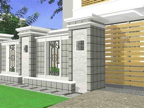 ? 60  model desain pagar rumah minimalis (batu alam, besi