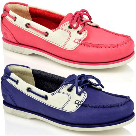 timberland boat shoes ladies womens ladies timberland classic 2 eye lace leather canvas