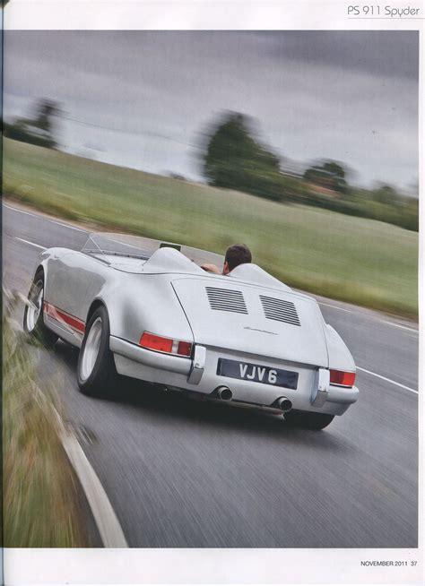 Porsche 911 Ps by Ps 911 Spyder Porsche Cars History