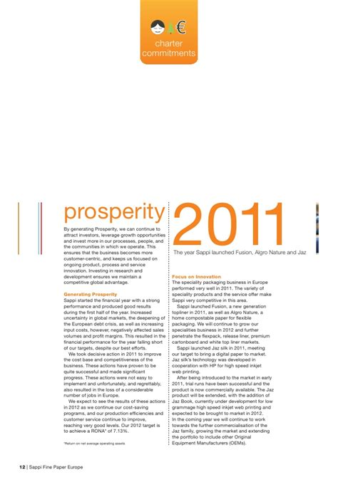 Sappi Paper Process - sappi paper europe sustainability report 2011