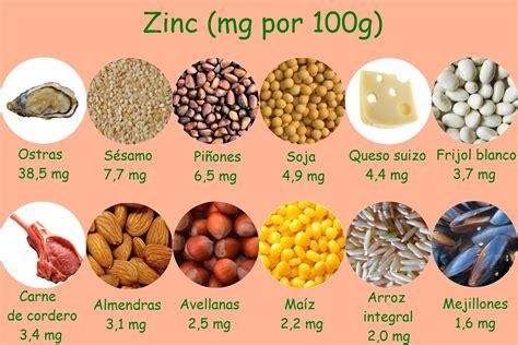 alimentos  contienen zinc alimentos  nutrientes pinterest alimentos ricos en hierro