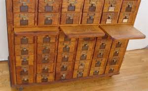 Library File Cabinet 320 60 Drawer Tiger Oak File Cabinet Library Card Lot 320