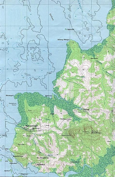 palau babeldaob island map 1up travel maps of palau palau ngeremlengui