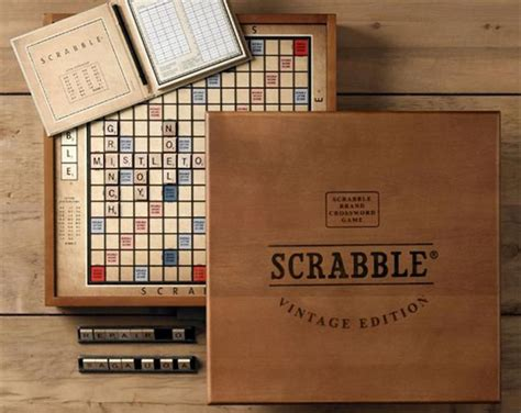 Vintage Edition Scrabble Board Hiconsumption