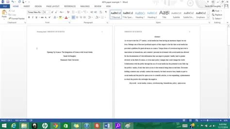apa layout word formatting apa style in microsoft word 2013