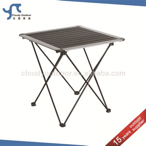 small stainless steel table roll up top small cing folding stainless steel table