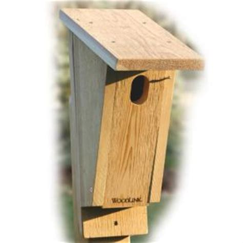 blue bird house hole size woodlink sloped front bluebird house 1 3 8 quot x 2 1 4 quot hole size