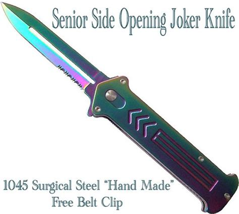 Kitchen Knife Jokes Senior Joke Assisted Knife Rainbow
