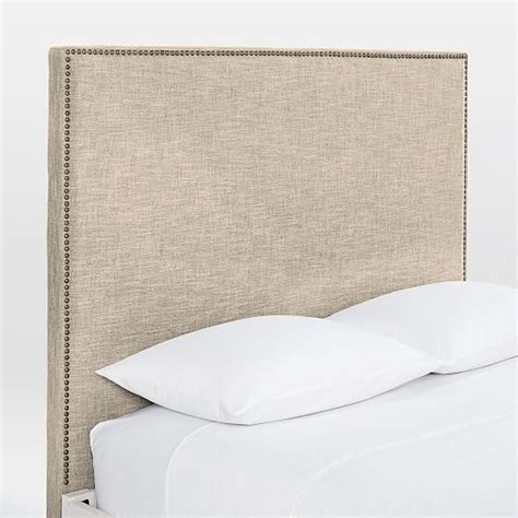 Simple White Bed Frame by Nailhead Headboard Simple Bed Frame