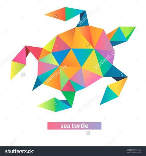 logo turtle geometry vector sea turtle geometric illustration of a many