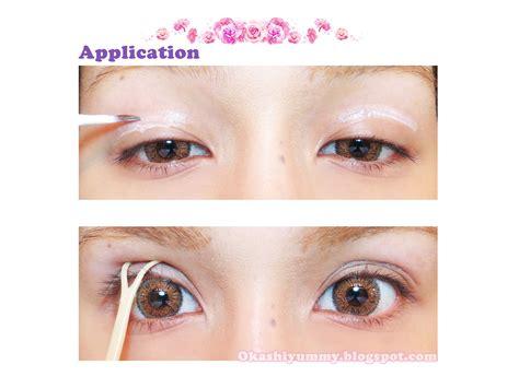 Salsa Eyelid Make Up Glue okashi eyetalk eyelid glue review