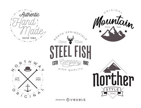 hipster logo template pack vector download