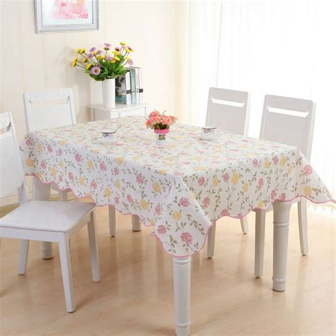 kitchen table cloths waterproof pvc vinyl wipe clean tablecloth dining kitchen