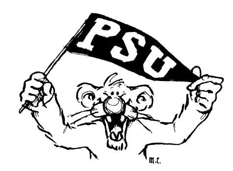 nittany lion of penn state coloring page coloring pages