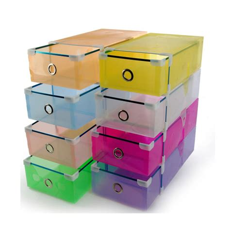 shoe box storage containers stackable clear plastic shoe box home storage boxes office
