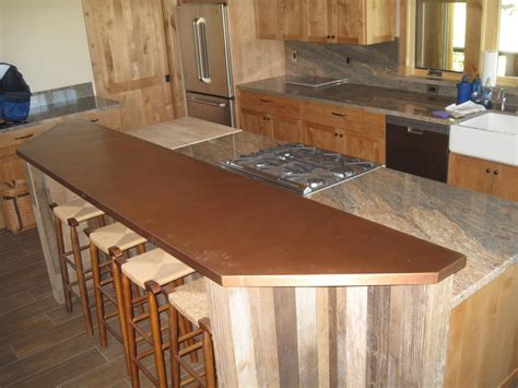 kitchen bar top copper bar tops kitchen bath bar circle city copperworks